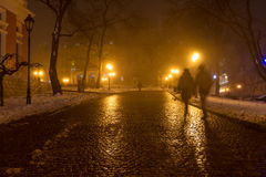 Odessa i dimman Jul Arkivbild
