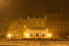 Odessa im Nebel Weihnachten Stockfotografie