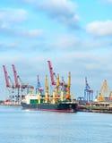 Odessa industrial sea port, Ukraine Stock Photos