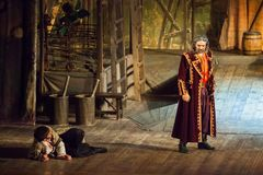 Scene from the theatrical play of the musical Vij Royalty Free Stock Photo