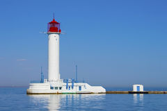 Odessa lighthouse on a sunny day Stock Photo