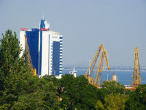 Odessa marine port. Royalty Free Stock Photography