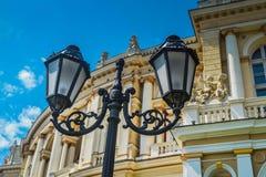 Odessa miasta opera i Baletniczy teatr z antycznymi statuami obrazy stock