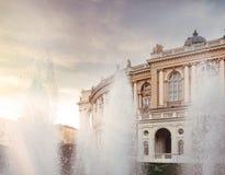 Odessa National Academic Theater de Opera e bailado em Ucrânia foto de stock