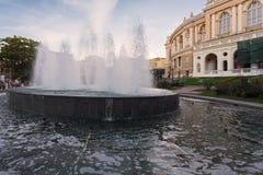 Odessa National Academic Theater de Opera e bailado em Ucrânia fotografia de stock