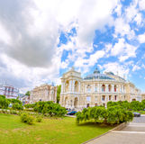 The Odessa National Academic Theater of Opera and Ballet is the oldest theater in Odessa. top part of Opera house. The Odessa National Academic Theater of Opera royalty free stock photos