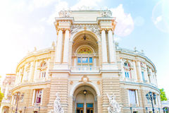 The Odessa National Academic Theater of Opera and Ballet is the oldest theater in Odessa, Ukraine. top part of Opera. House Royalty Free Stock Image