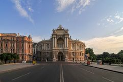 Odessa National Academic Theater - Odessa, Ukraine royalty free stock images