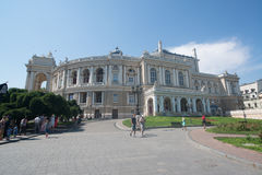 Odessa National Academic Theater of Opera and Ballet Royalty Free Stock Images