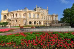 Odessa National Academic Theater - Odessa, Ucrânia fotografia de stock