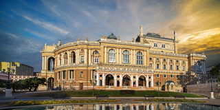 Odessa National Academic Theater in Ukraine Royalty Free Stock Photos