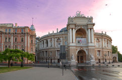 Odessa National Opera Theater. Magic of architecture. The main sight and landmark of Odessa city (Ukraine) and one of the most beautiful opera buildings in the Royalty Free Stock Photos