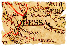 Odessa old map Royalty Free Stock Image