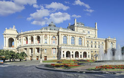 odessa opera Arkivbild