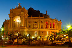 Odessa Opera and Ballet Theater at night Royalty Free Stock Photo