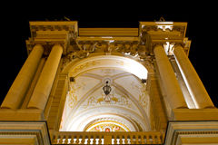 Odessa Opera and Ballet Theater at night Stock Images