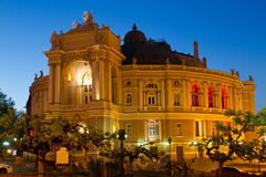 Odessa Opera and Ballet Theater. At night. Ukraine Royalty Free Stock Image