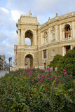 Odessa opera. Building of Odessa opera in the morning Royalty Free Stock Images