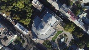 Odessa Opera en Ballettheater, de Oekraïne Lucht Mening 4K video stock video