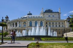Odessa Opera House Ukraine Stock Photos
