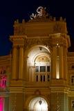 Odessa opera i Baletniczy teatr przy nocą obrazy stock