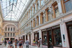 Odessa Passage. Was built at the end of the 19th century and was the best hotel in Southern Russia. Hotel Passage hotel and indoor shopping arcade, a monument Royalty Free Stock Image