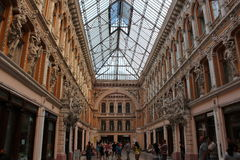 Odessa Passage. Was built at the end of the 19th century and was the best hotel in Southern Russia. Hotel Passage hotel and indoor shopping arcade, a monument Royalty Free Stock Photography