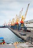 Odessa port cargo cranes Royalty Free Stock Image