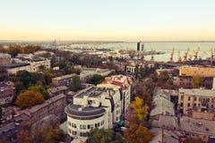Odessa. Port of Odessa at sunset Stock Photos