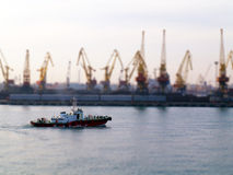 Odessa port. Royalty Free Stock Photos