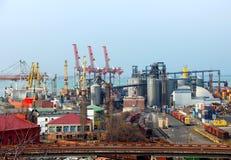 odessa port ukraine arkivbild