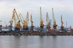 Odessa port. Ukraine. Black sea royalty free stock images