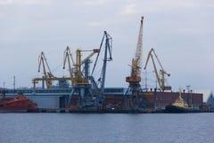 Odessa port. Ukraine. Black sea stock image