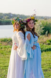 Odessa region, village Vizirka, Ukraine - 6  July 2013: holiday Ivana Kupala Night Royalty Free Stock Photography