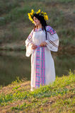 Odessa region, village Vizirka, Ukraine - 6  July 2013: holiday Ivana Kupala Night Stock Photo