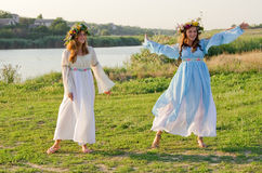 Odessa region, village Vizirka, Ukraine - 6  July 2013: holiday Ivana Kupala Night Royalty Free Stock Photos