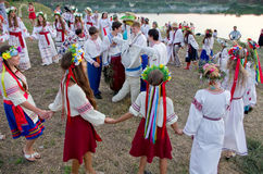 Odessa region, village Vizirka, Ukraine - 6  July 2013: holiday Ivana Kupala Night Stock Images