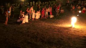 Odessa region, village Vizirka, Ukraine - 6  July 2013: holiday Ivana Kupala Night Royalty Free Stock Images