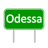 Odessa road sign. Royalty Free Stock Photography