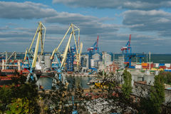 Odessa sea port Royalty Free Stock Photography