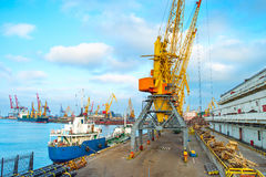 Odessa sea port, Ukraine Royalty Free Stock Photo