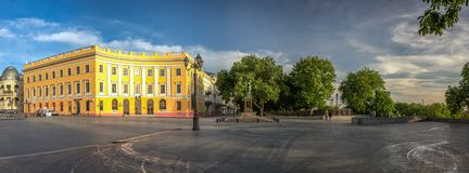 Odessa Seaside Boulevard in de Oekraïne stock afbeeldingen