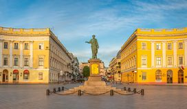 Odessa Seaside Boulevard en Ukraine images stock