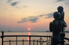 Odessa-Seeterminalsommer, Sonnenaufgang Stockfotografie