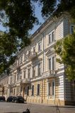 Odessa, South of Ukraine, Primorsky boulevard, July 10, 2018. Walking on the city streets in summer with ancient buildings and gre. At architecture stock photo