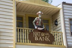 Odessa, South of Ukraine, Seaside boulevard, Cafe Rio Bravo, July 10, 2018. Walking on the city streets in summer. Pirate, Nationa. L bank royalty free stock photo