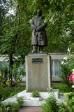 Odessa, South of Ukraine, Seaside boulevard, July 10, 2018. Monument to Valery Chkalov. Walking on the city streets in summer. Lot. Of houses, cafes, trees stock photography