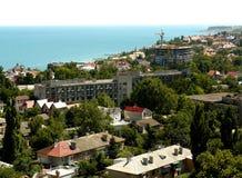 Odessa stad på Blacket Sea Fotografering för Bildbyråer