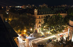 Odessa street at night Royalty Free Stock Image