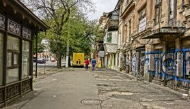 Odessa, Street, Old, House, Stop Stock Images
